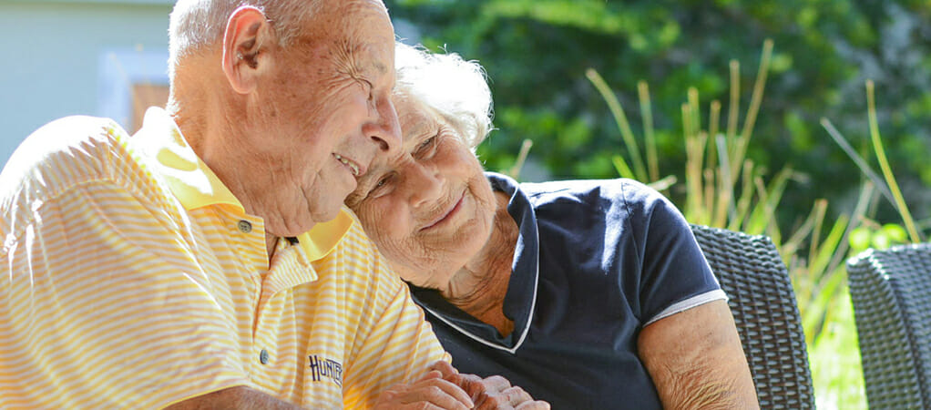 Senior couple enjoying the golden years, MorseLife Memory Care, Dementia