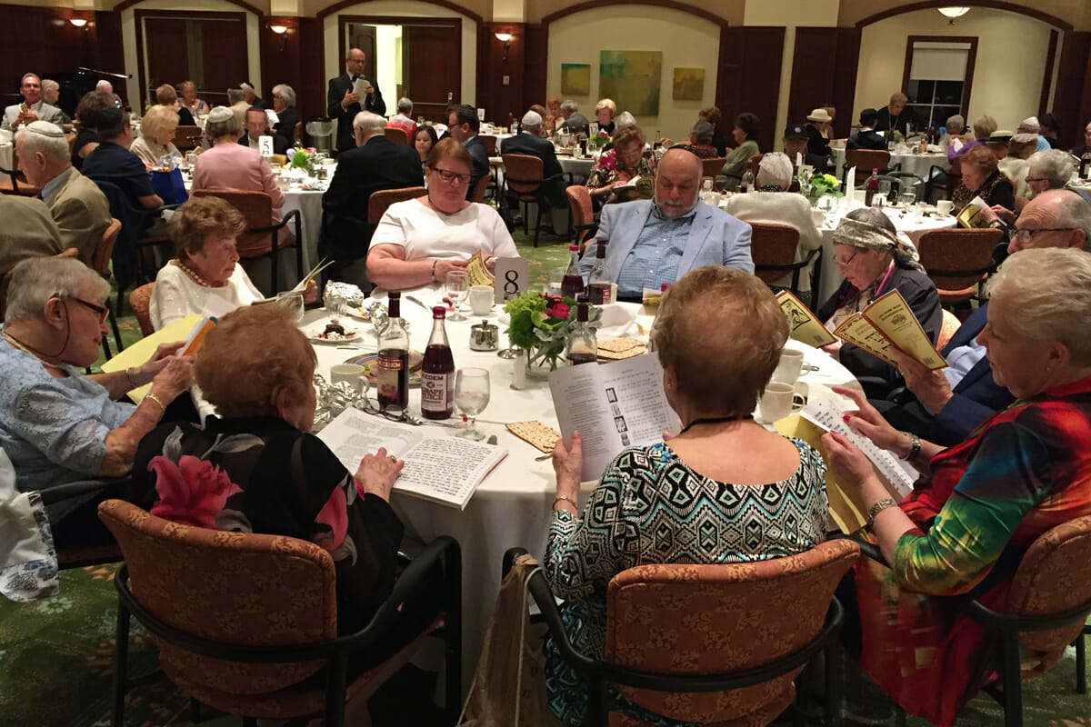 Jewish Holiday celebration at MorseLife, Passover Seder, The Tradition at MorseLife