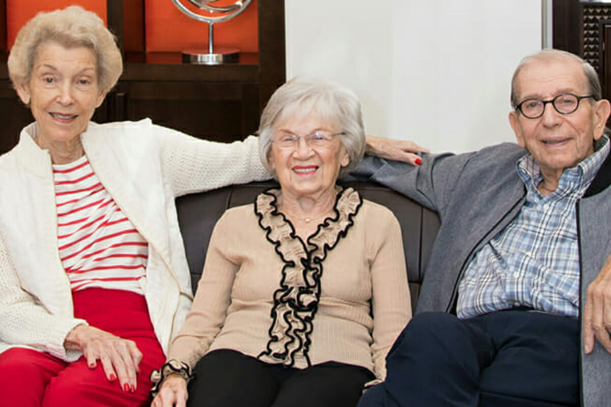 Old Friends Reunite at The Levin Palace, Independent Living, MorseLife is More Life, Luxurious Spacious Apartments
