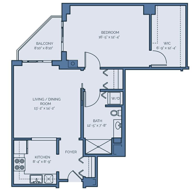 Tradition - Dahlia Floor Plan - Spacious 1 Bedroom / 1 Bath