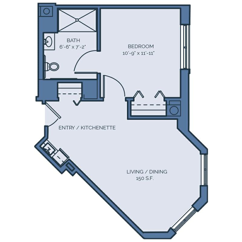 Tradition - Palmetto Palm Floor Plan - Spacious 1 Bedroom / 1 Bath