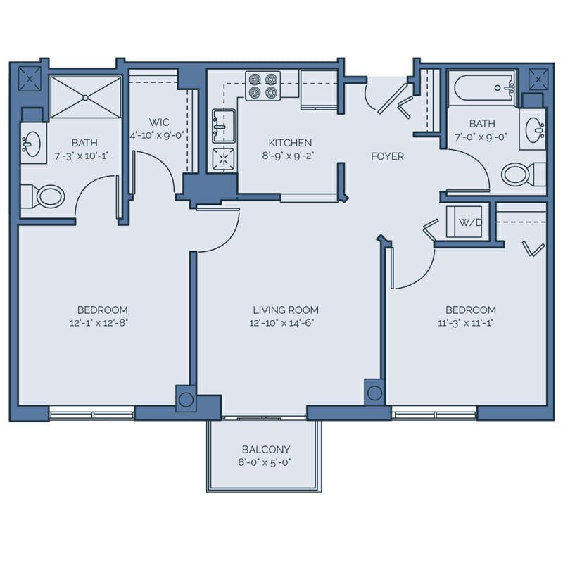 Tradition - Rose Floor Plan - Spacious 2 Bedroom / 2 Bath