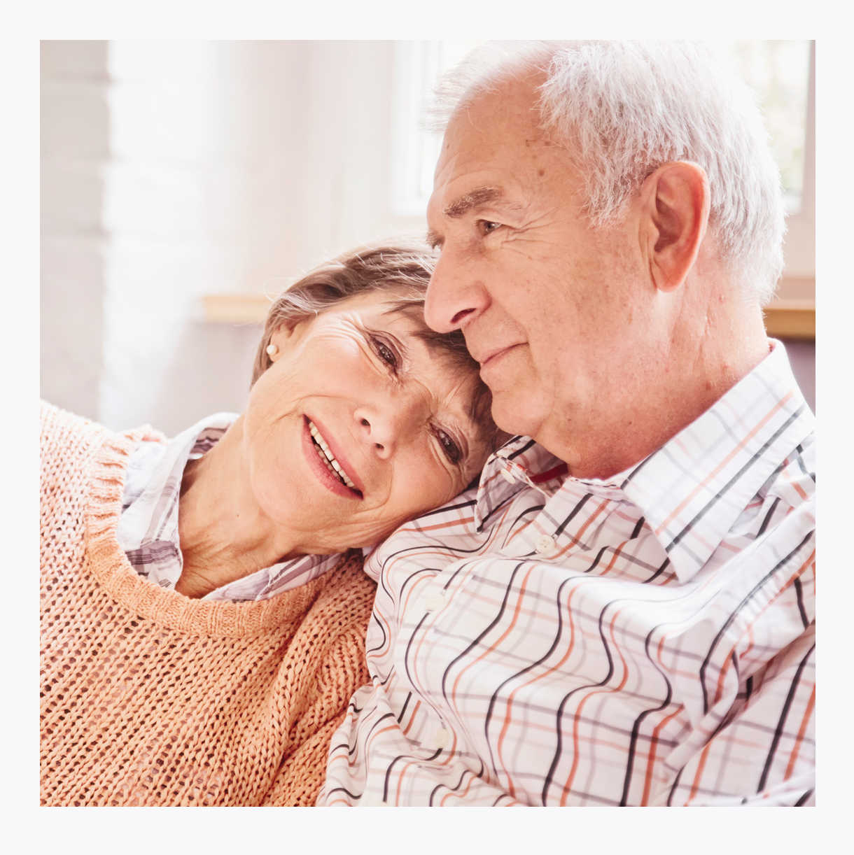 Older couple participating in medical marijuana treatments CBD at assisted living memory care independent living